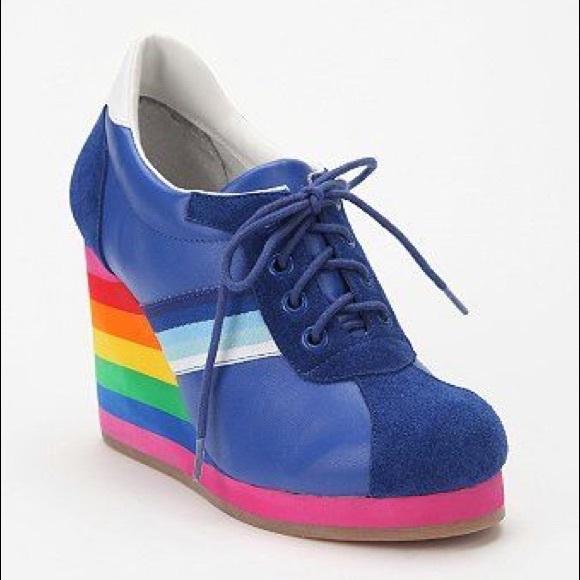 Jeffrey Campbell Rainbow Wedge Luxe